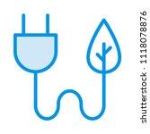 eco energy connector  | Shutterstock .eps vector #1118078876