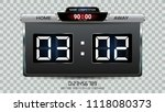 digital timing scoreboard ... | Shutterstock .eps vector #1118080373