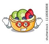 super hero fruit tart character ... | Shutterstock .eps vector #1118083808