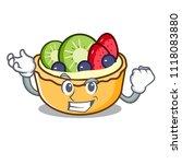 successful fruit tart character ... | Shutterstock .eps vector #1118083880