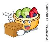 with box fruit tart character... | Shutterstock .eps vector #1118083898