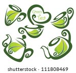 green tea  vector collection of ... | Shutterstock .eps vector #111808469