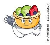 doctor fruit tart character... | Shutterstock .eps vector #1118086574