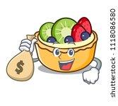 with money bag fruit tart... | Shutterstock .eps vector #1118086580