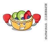 boxing fruit tart character... | Shutterstock .eps vector #1118086658