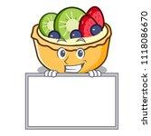 grinning with board fruit tart... | Shutterstock .eps vector #1118086670