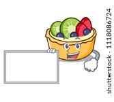 with board fruit tart character ... | Shutterstock .eps vector #1118086724
