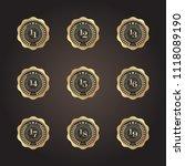eleven to nineteen years golden ...   Shutterstock .eps vector #1118089190