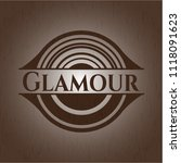 glamour badge with wooden... | Shutterstock .eps vector #1118091623