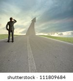 concept of the road to success | Shutterstock . vector #111809684