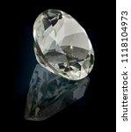 prasioliet quartz gem stone... | Shutterstock . vector #1118104973