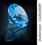 topaz swiss gem stone isolated...   Shutterstock . vector #1118105039