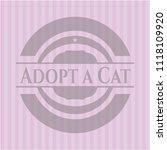 adopt a cat pink emblem.... | Shutterstock .eps vector #1118109920