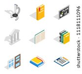 magistrate icons set. isometric ... | Shutterstock . vector #1118111096