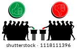 voters crowd silhouette by... | Shutterstock .eps vector #1118111396
