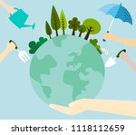 the concept of caring for the... | Shutterstock .eps vector #1118112659