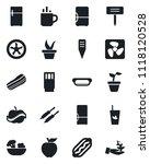 set of vector isolated black... | Shutterstock .eps vector #1118120528