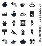 set of vector isolated black... | Shutterstock .eps vector #1118122724