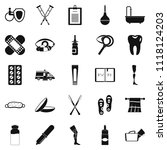 disabled icons set. simple set... | Shutterstock . vector #1118124203