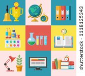 school sale. vector colorful... | Shutterstock .eps vector #1118125343