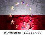 european union stars under wall ... | Shutterstock . vector #1118127788