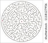 vector image of a circular maze.   Shutterstock .eps vector #1118127956