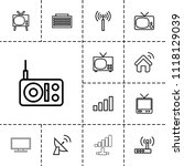 antenna icon. collection of 13... | Shutterstock .eps vector #1118129039