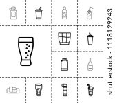 soda icon. collection of 13... | Shutterstock .eps vector #1118129243