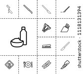 knife icon. collection of 13... | Shutterstock .eps vector #1118131394