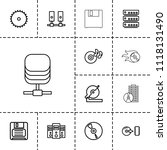 disk icon. collection of 13... | Shutterstock .eps vector #1118131490