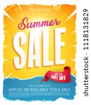 summer sale template banner ... | Shutterstock .eps vector #1118131829