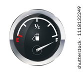 full tank of fuel  glossy... | Shutterstock .eps vector #1118132249