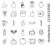 allowance icons set. outline...   Shutterstock . vector #1118133500