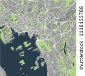 vector map of the city of oslo  ... | Shutterstock .eps vector #1118133788