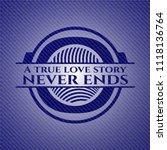 a true love story never ends... | Shutterstock .eps vector #1118136764
