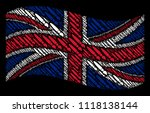 waving great britain state flag ... | Shutterstock .eps vector #1118138144