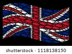 waving great britain flag on a... | Shutterstock .eps vector #1118138150