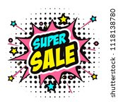 super sale vector illustration  ... | Shutterstock .eps vector #1118138780