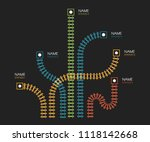 railroad tracks  railway simple ... | Shutterstock .eps vector #1118142668