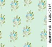 pattern  watercolor flowers ... | Shutterstock . vector #1118147669
