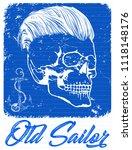 skull t shirt graphic design | Shutterstock .eps vector #1118148176