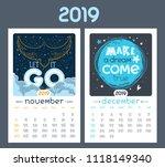 calendar design for 2019 year.... | Shutterstock .eps vector #1118149340