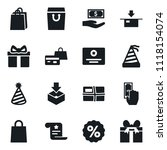 set of simple vector isolated... | Shutterstock .eps vector #1118154074