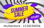 summer sale banner template...   Shutterstock .eps vector #1118156036