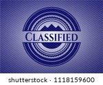 classified with denim texture   Shutterstock .eps vector #1118159600