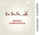 christmas background with funny ... | Shutterstock .eps vector #111816050