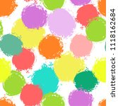 colorful seamless pattern ... | Shutterstock .eps vector #1118162684