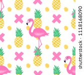 vector seamless pattern with... | Shutterstock .eps vector #1118168090