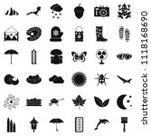 mitten icons set. simple style... | Shutterstock . vector #1118168690