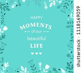 vector poster. lettering with... | Shutterstock .eps vector #1118169059